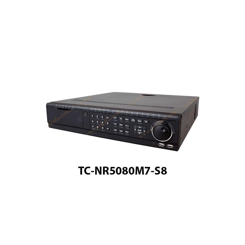 دستگاه NVR تیاندی 80 کانال مدل  TC-NR5080M7-S8