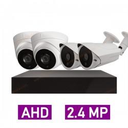 پکیج کامل 4 دوربین مداربسته 2.4 مگاپیکسل AHD