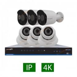 پکیج کامل 6 دوربین مداربسته 5 مگاپیکسل IP