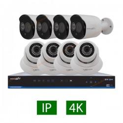 پکیج کامل 8 دوربین مداربسته 5 مگاپیکسل IP