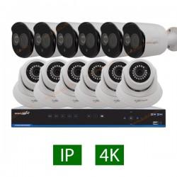 پکیج کامل 12 دوربین مداربسته 5 مگاپیکسل IP
