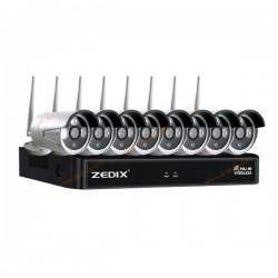 پکیج 8 دوربین مداربسته بیسیم ZX