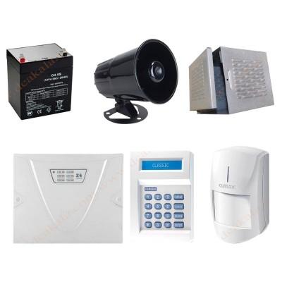 پکیج دزدگیر کلاسیک با 1 تا 4 چشمی ساده و تلفن کننده ثابت