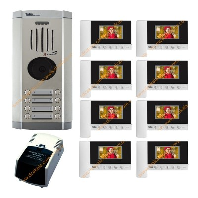 پکیج 1 تا 12 واحدی آیفون تصویری تابا مدل TVD-5-43 با حافظه 4.3 اینچ