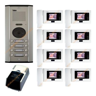 پکیج 1 تا 12 واحدی آیفون تصویری تابا مدل TVD-1035 با حافظه 4.3 اینچ