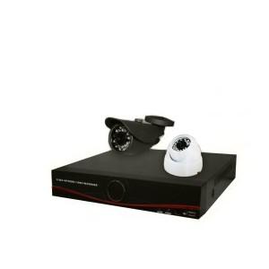 پکیج دو دوربین مداربسته (دی وی آر + دوربین و متعلقات)