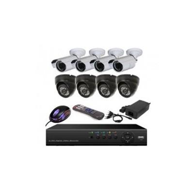 پکیج 8 دوربین مداربسته ویژه اماکن تجاری و مسکونی