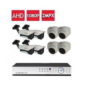 پکیج 8عدد دوربین 2مگاپیکسلی AHD+ دی وی آر+متعلقات