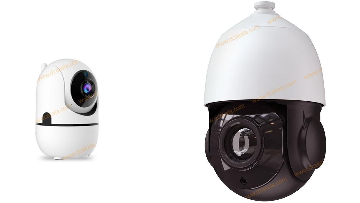 دوربین مداربسته با اندازه بزرگ یا کوچک