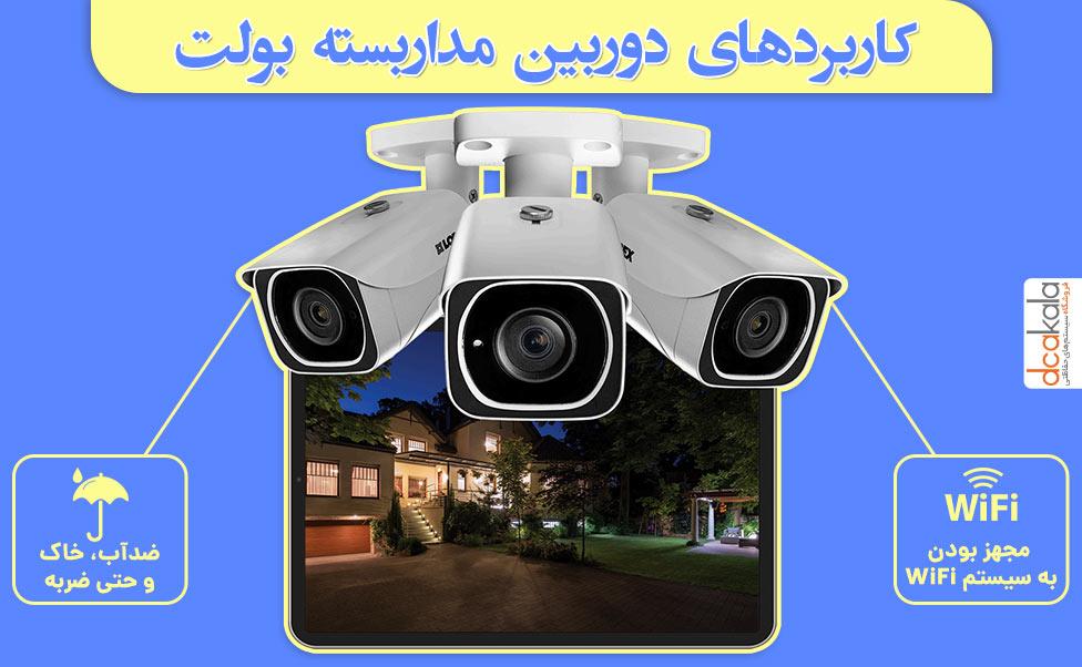 کاربرد دوربین سقفی در خارج و داخل ساختمان