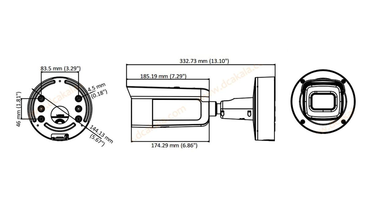 دوربین مداربسته IP هایک ویژن مدل DS-2CD2663G0-IZS