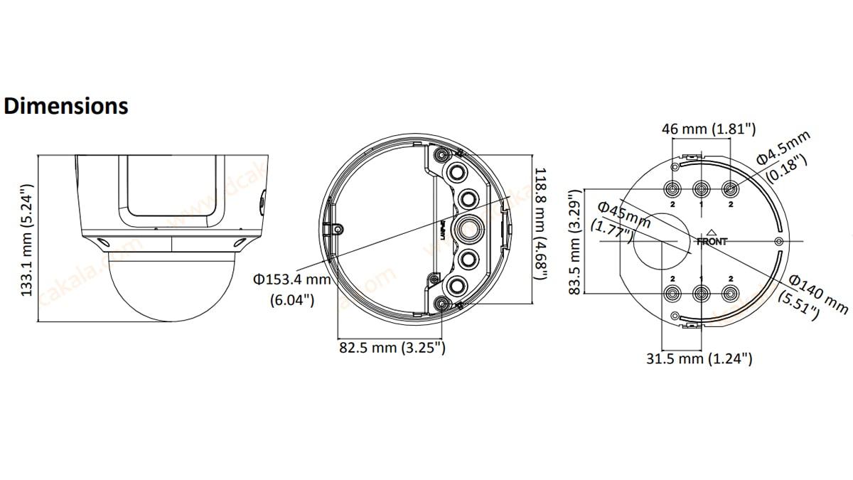 دوربین مداربسته IP هایک ویژن مدل DS-2CD2763G0-IZS