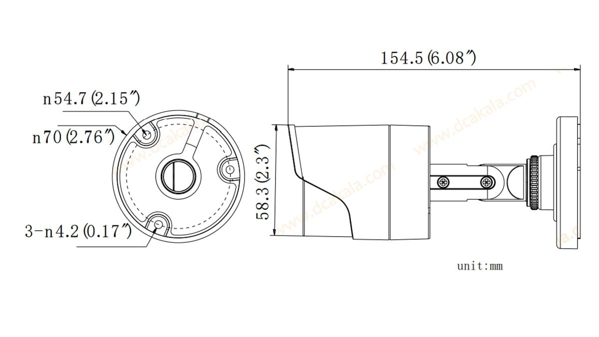 دوربین مدار بسته HDTVI هایک ویژن DS-2CE16D0T-IR