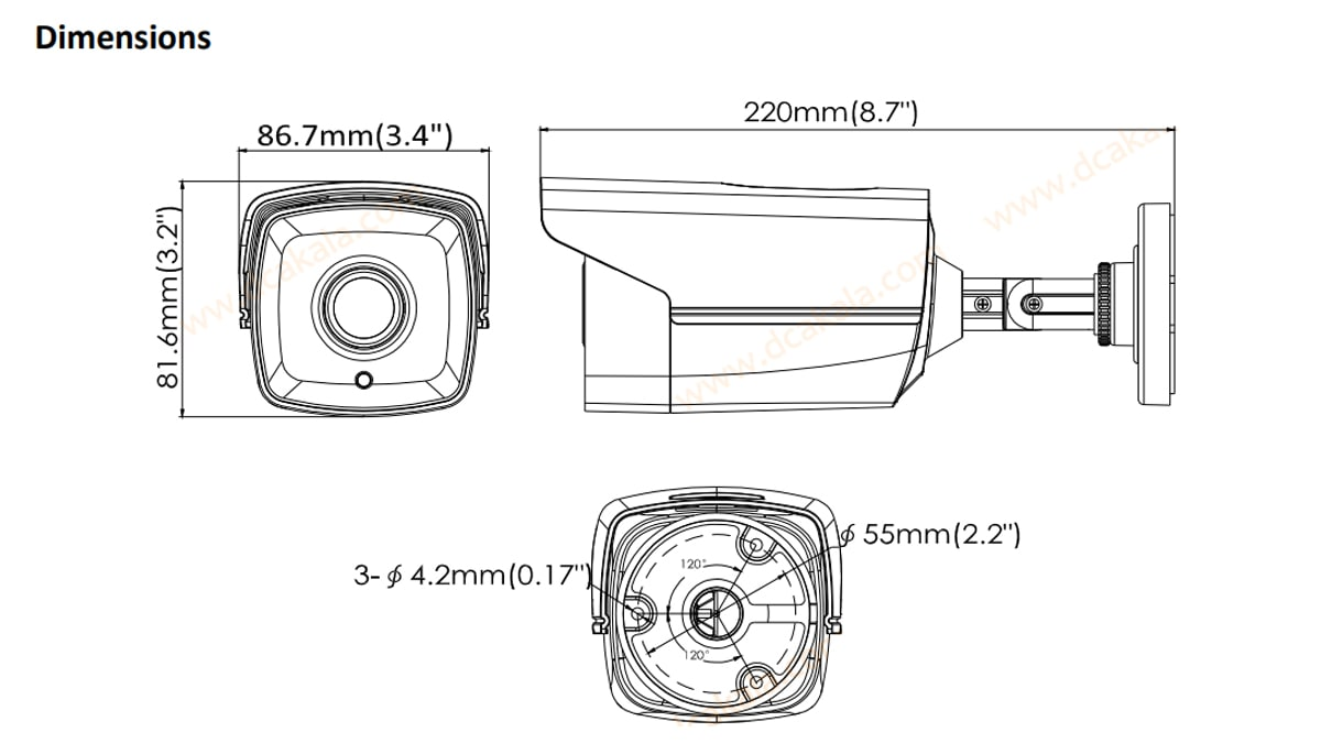 دوربین مدار بسته HDTVI هایک ویژن DS-2CE16D0T-IT3