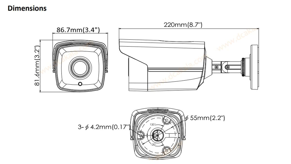 دوربین مداربسته HDTVI هایک ویژن مدل DS-2CE16D0T-IT5