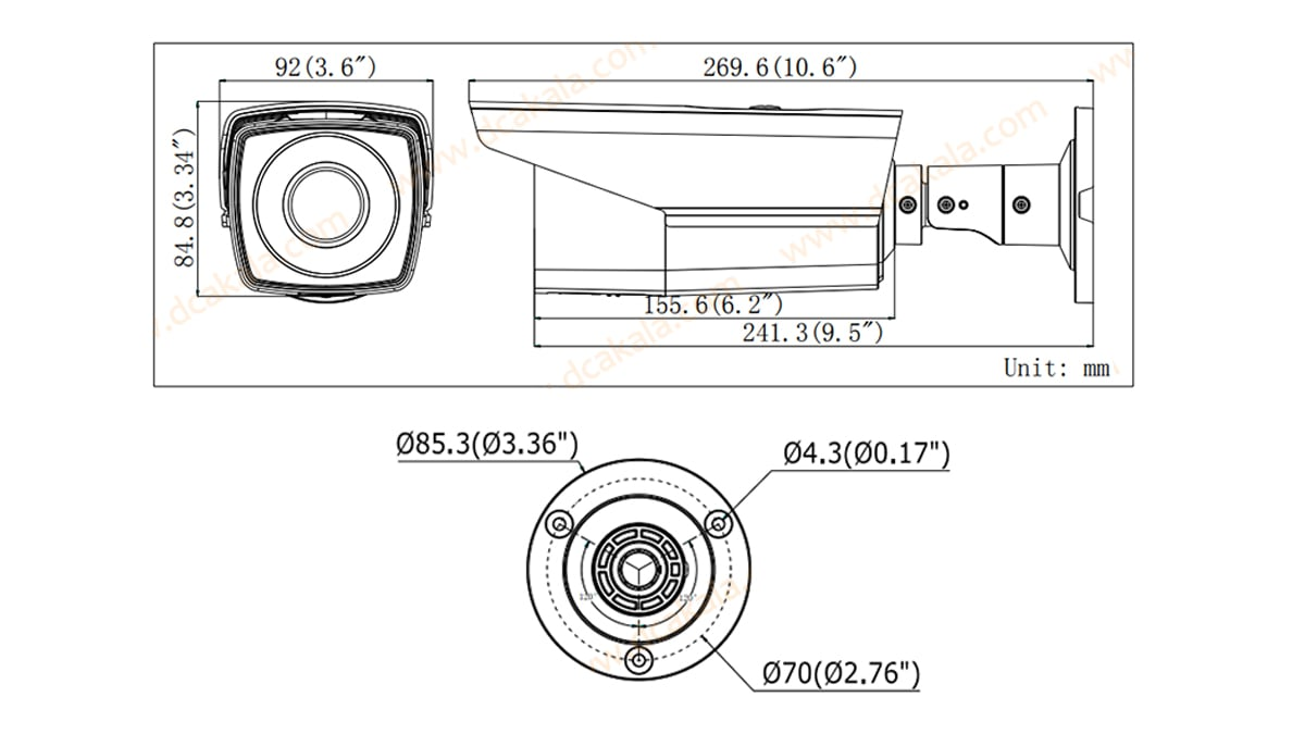 دوربین مدار بسته HDTV هایک ویژن DS-2CE16D1T-VFIR3