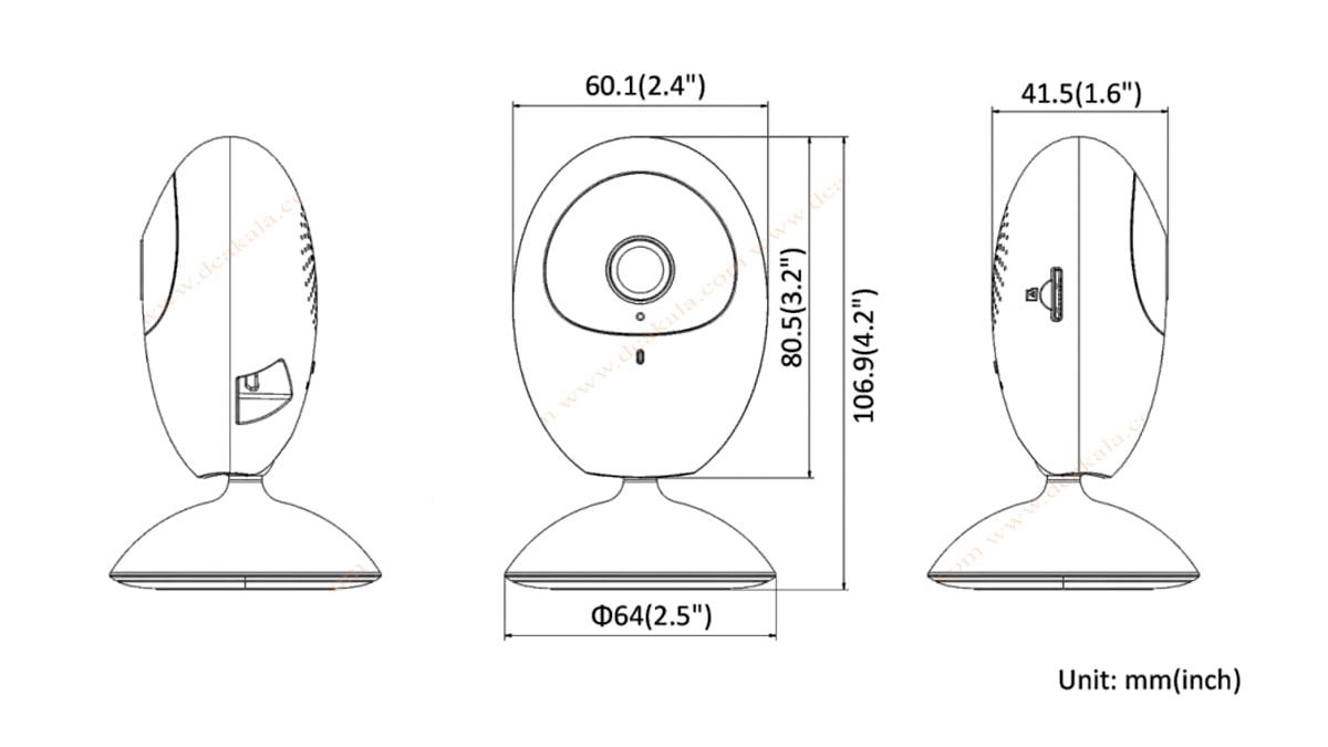 دوربین مدار بسته IP هایک ویژن DS-2CV2U21FD-IW