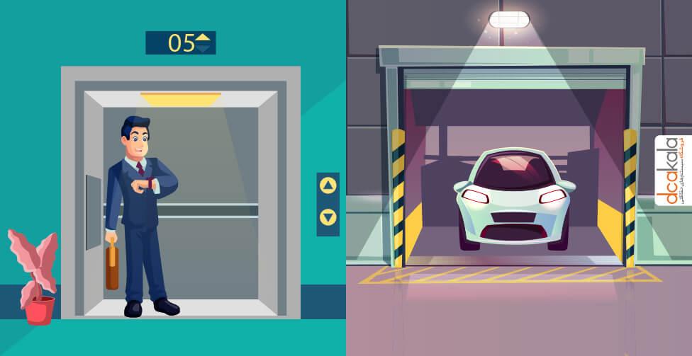 بازکردن درب پارکینگ با دربازکن تصویری