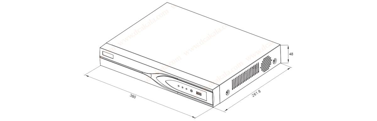 ضبط کننده تصویر دوربین مداربسته ویدئوپارک VP-HD0803-TE