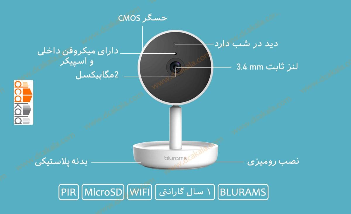 اینفوگرافی دوربین مدار بسته بلورمز مدل A10C