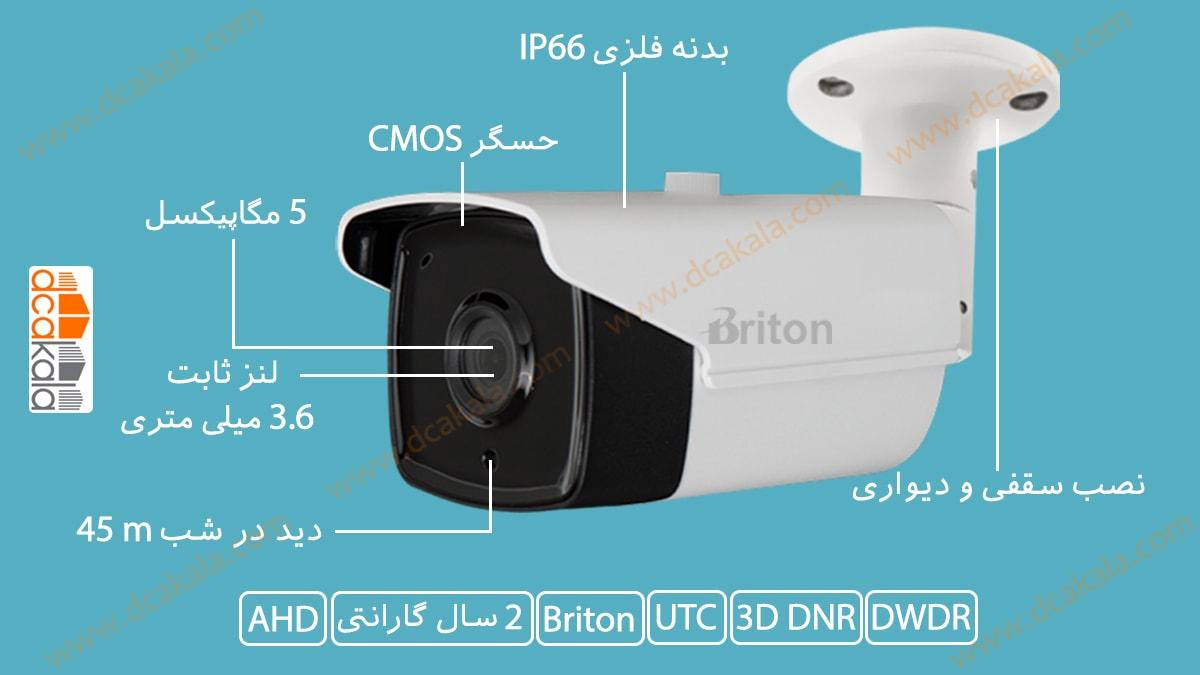 اینفوگرافی دوربین مدار بسته برایتون مدل UVC65B13