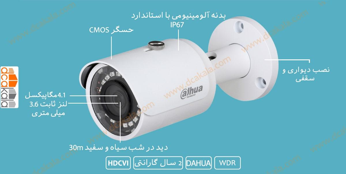 اینفو گرافی دوربین مدار بسته HDCVI داهوا HAC-HFW1400SP