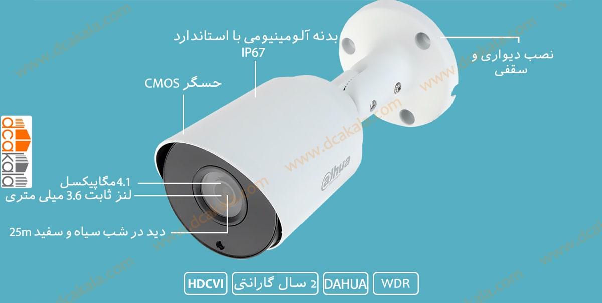 اینفو گرافی دوربین مدار بسته HDCVI داهوا HAC-HFW1400TP