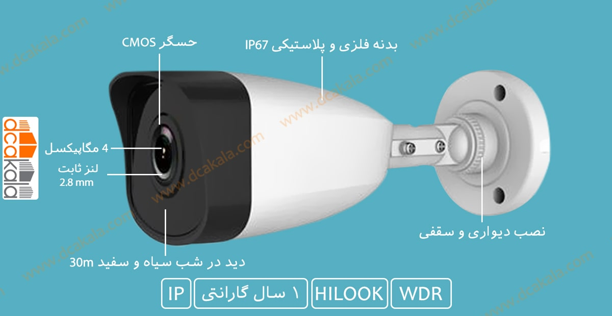 دوربین مدار بسته IP هایلوک IPC-B140