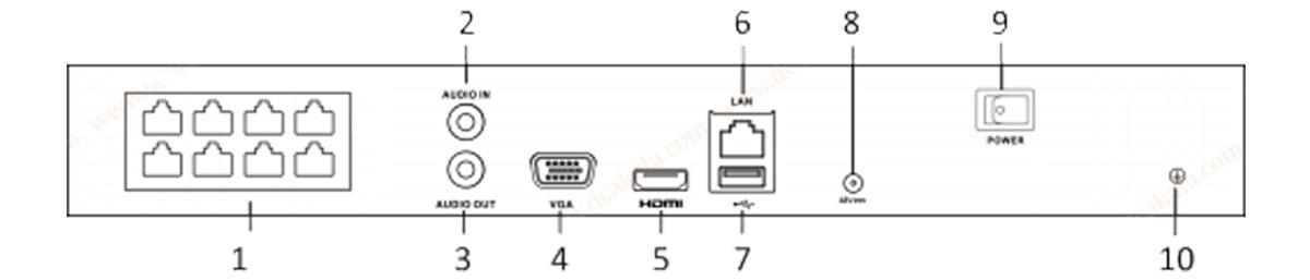 ضبط کننده آی پی هایلوک NVR-108MH-C-8P