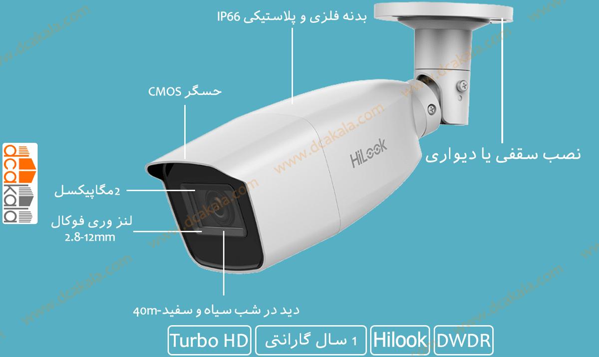 اینفوگرافی دوربین مداربسته توربو اچ دی هایلوک THC-B320-VF