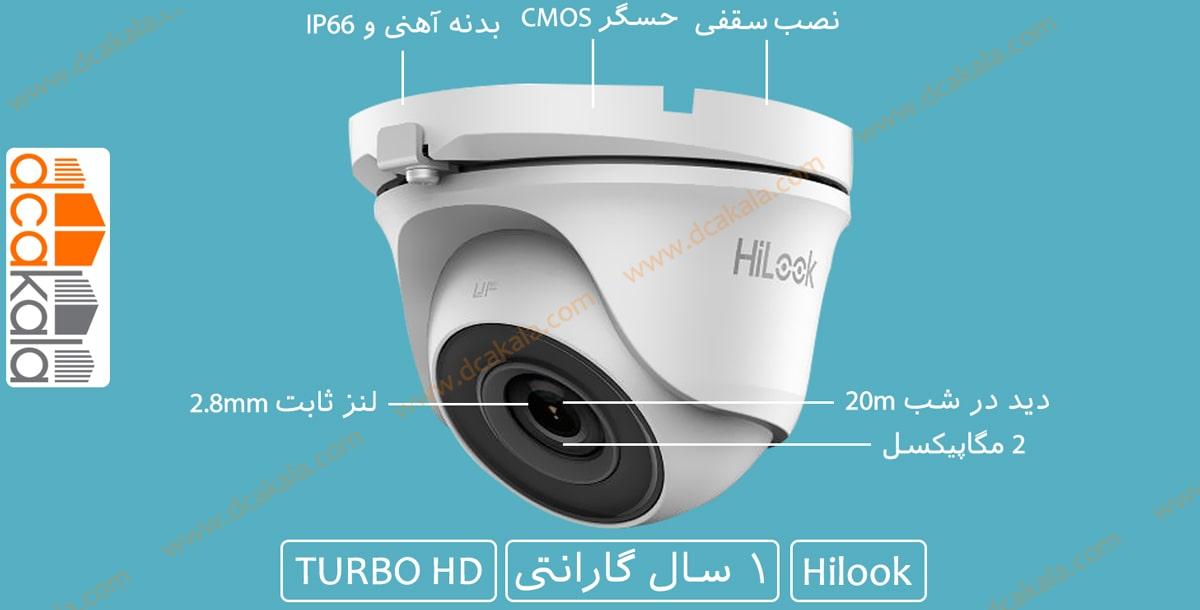 اینفو گرافی دوربین مدار بسته توربو اچ دی هایلوک THC-T120-M