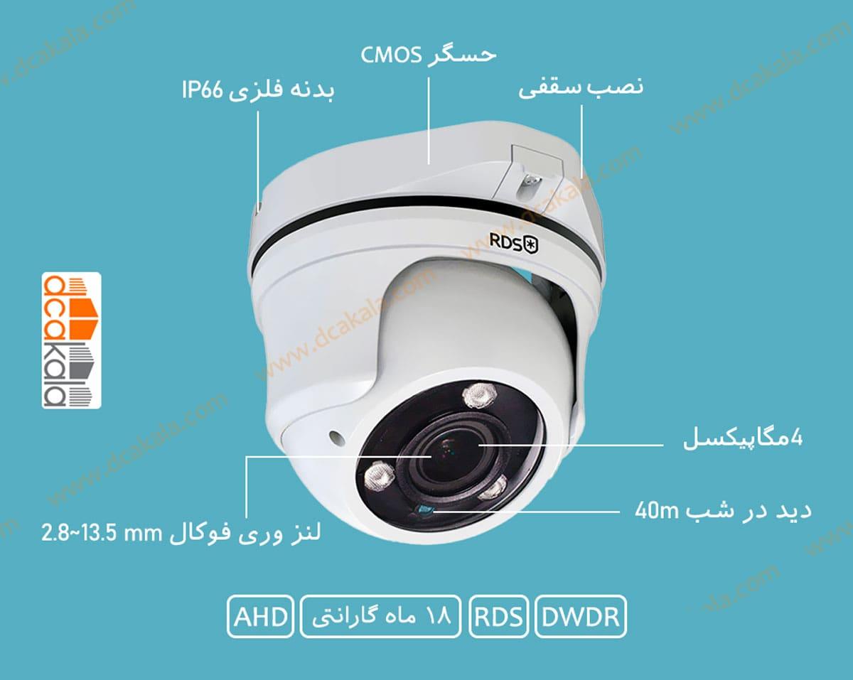 اینفوگرافی دوربین مدار بسته آر دی اس مدل hxs420s-vbf