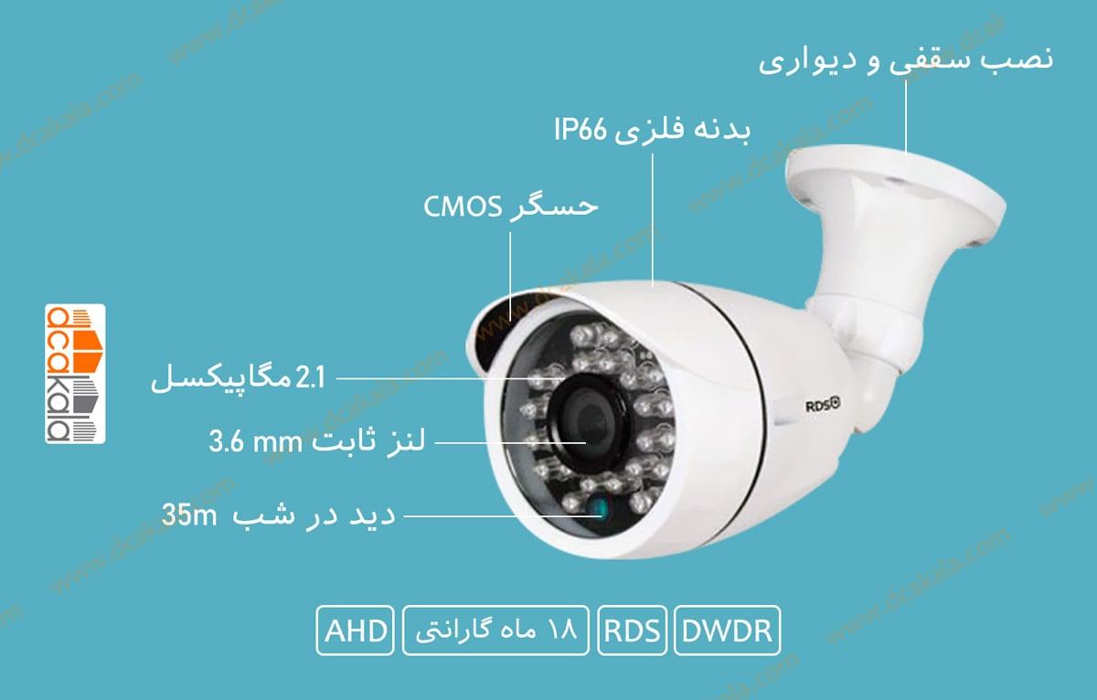 اینفوگرافی دوربین مدار بسته ای اچ دی RDS مدل RDS-HXF225