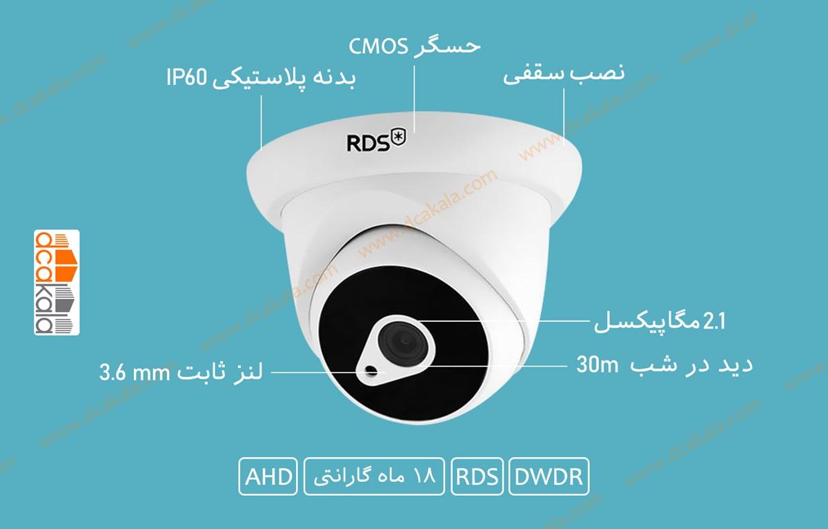 اینفوگرافی دوربین مدار بسته ای اچ دی RDS مدل RDS-HXR221