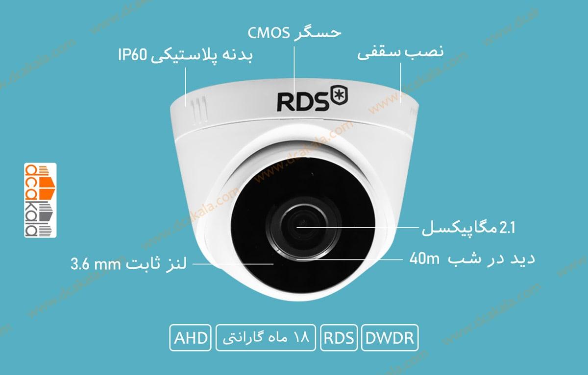اینفوگرافی دوربین مدار بسته ای اچ دی RDS مدل RDS-HXD221