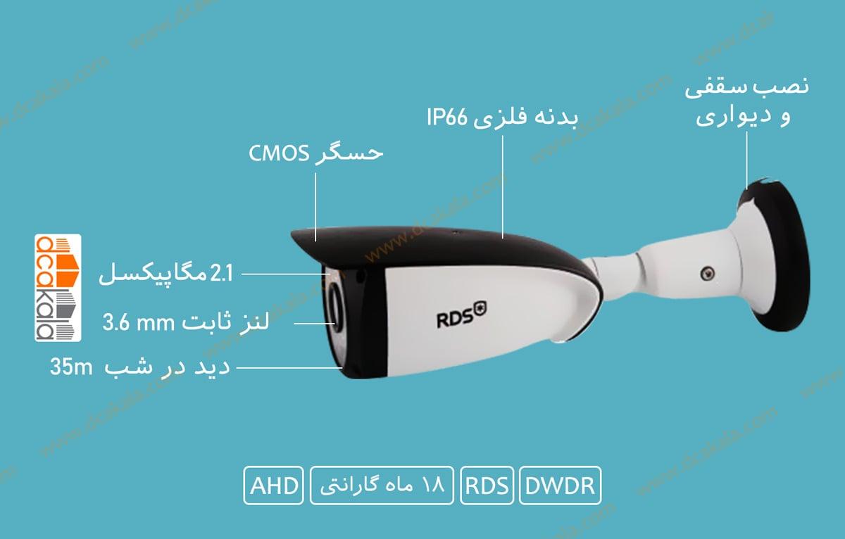اینفو گرافی دوربین مدار بسته ای اچ دی RDS مدل HXM221
