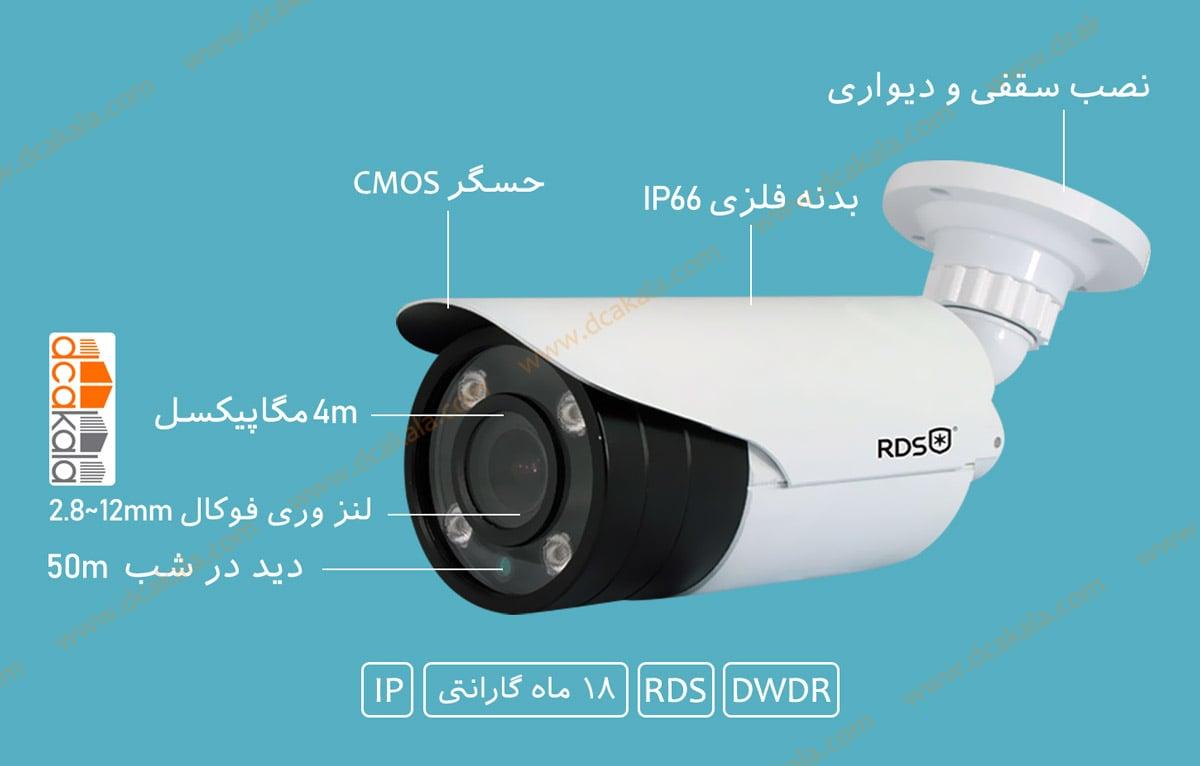 اینفوگرافی دوربین مدار بسته ای اچ دی RDS مدل RDS-HXJ420