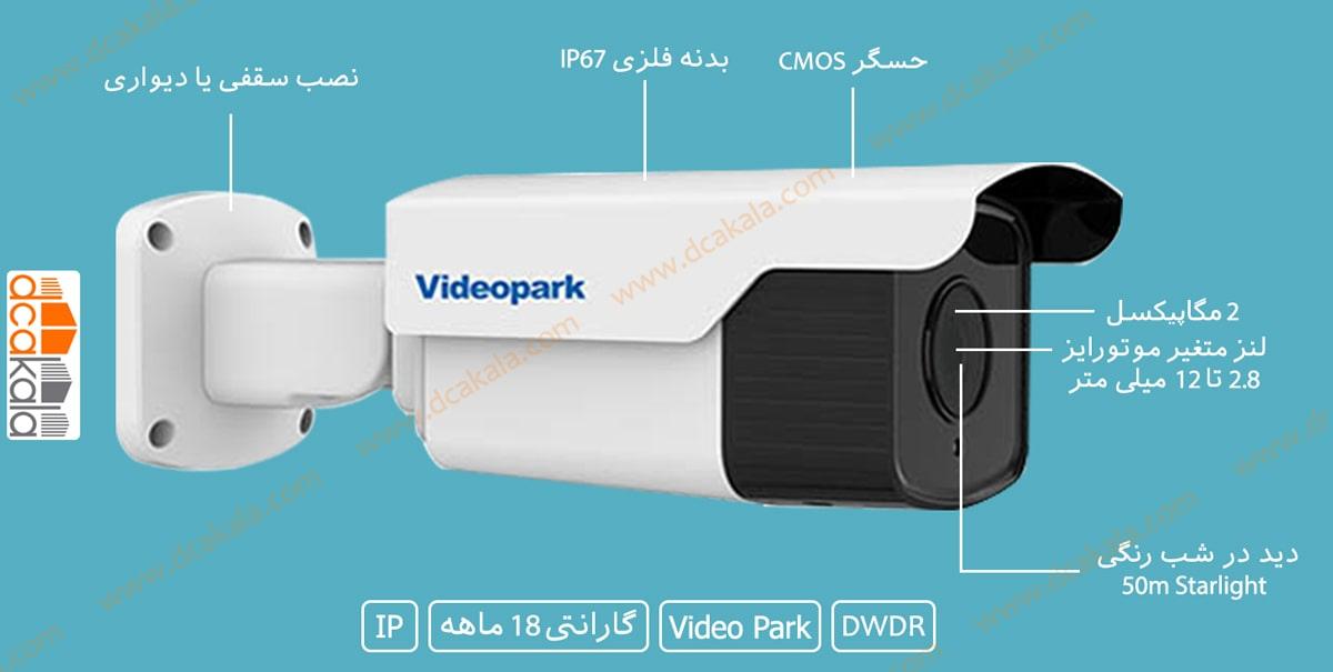 اینفو گرافی دوربین مدار بسته ویدئو پارک VP-IPC-IRQ3200WMCP