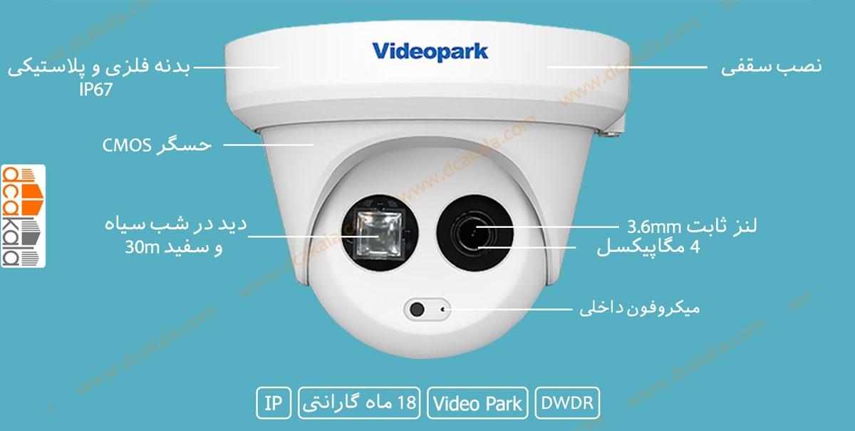 اینفو گرافی دوربین مدار بسته ویدئو پارک ZN-NC-HBR2400-I3PS-MIC