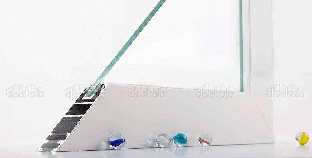 درب اتوماتیک شیشه ای زاویه ای