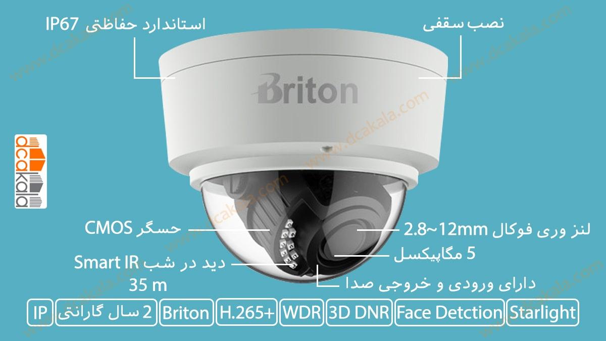 اینفوگرافی دوربین مدار بسته تحت شبکه برایتون مدل IPC74650E89WD-Al