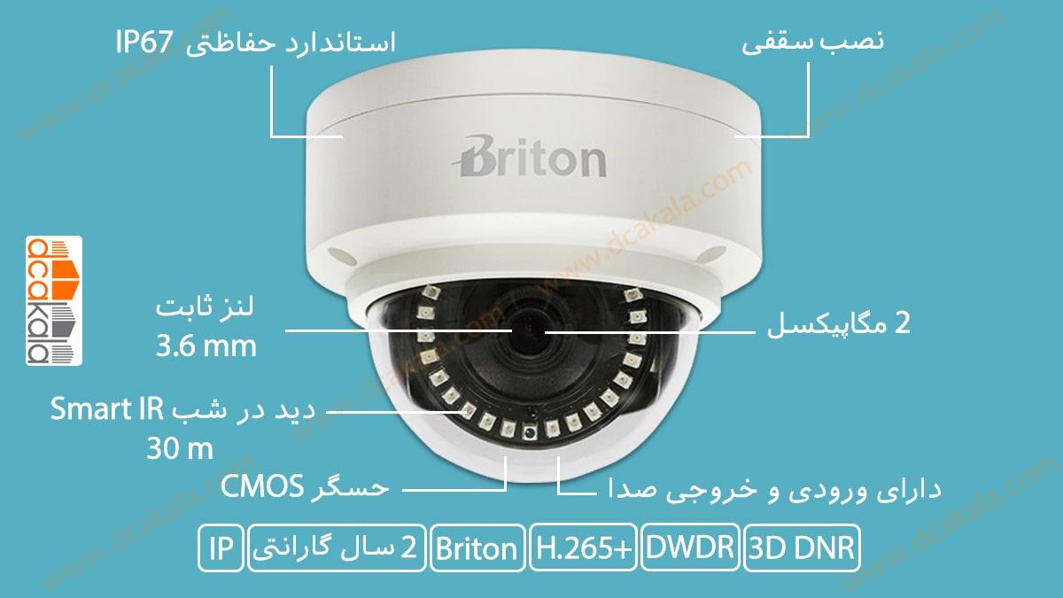 اینفوگرافی دوربین مدار بسته تحت شبکه برایتون مدل IPC70520D89-AI