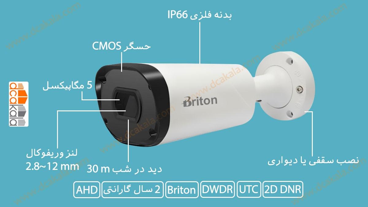 اینفوگرافی دوربین مدار بسته برایتون مدل uvc65c29