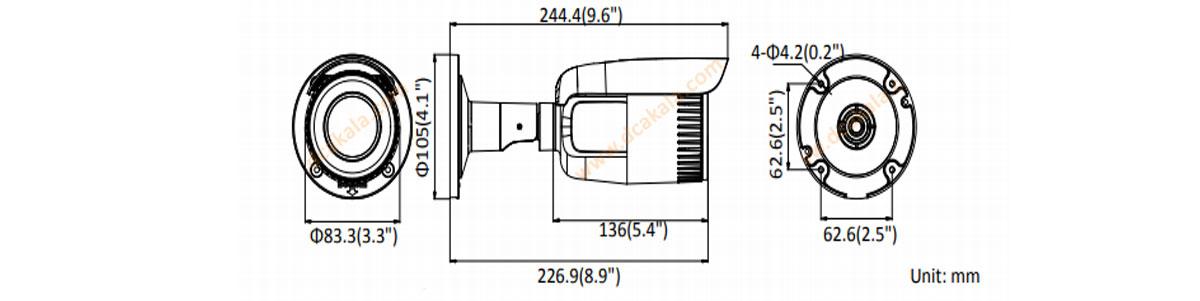دوربین مداربسته هایک ویژن مدل ds-2cd1623g0-iz