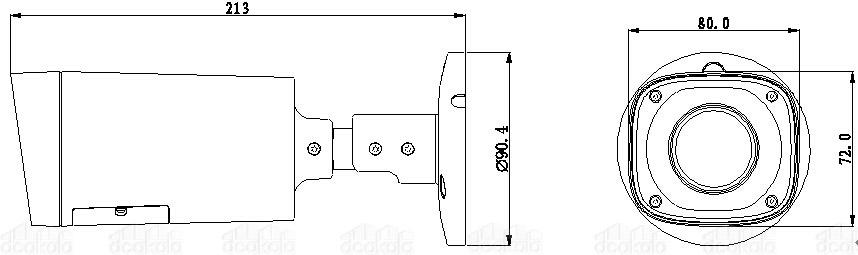 دوربین مدار بسته بولت داهوا مدل HAC-HFW2221RP-Z-IRE6