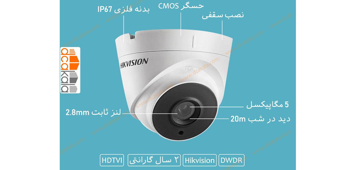 اینفوگرافی دوربین مداربسته هایک ویژن ds-2ce56h0t-it1f