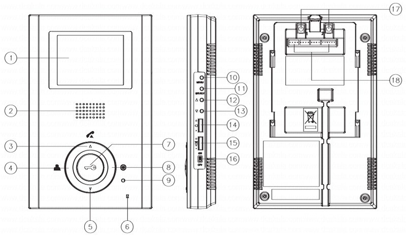 آیفون تصویری کوماکس مدل 35hm